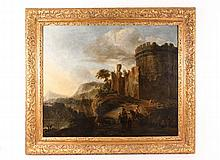 Lingelbach Old Master Oil on Canvas, Signed