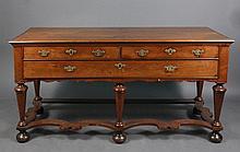 English William & Mary Style Walnut Dresser Base