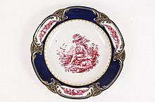 Italian Doccia Porcelain Hand Painted Plate