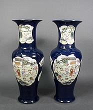 Pair of Large Chinese Porcelain Floor Vases