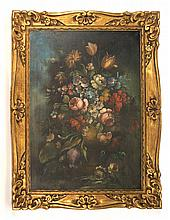 Dutch Master Style Floral Still Life, Oil