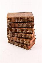 5 French Volumes on Ancient Roman Emperors,18th C.