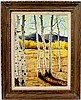 Jo McGregor American Birch Trees Oil Painting