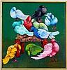 Gesner Armand Oil on Canvas--Pigeons