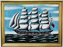 L. 19th C. British Clipper Ship Oil Painting