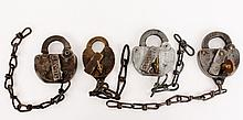 Set of Four Antique Railroad Locks