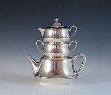 Crescent Silver Tea Set