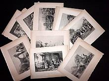 Allom, Thomas C1843 Lot of 17 Steel Engravings from China Illustrated.