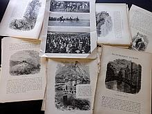 World Views 19th Century, Lot of 550+ Sheets. ILN, Graphic, Picturesque Europe