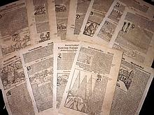 Munster, Sebastian 1578-88 Lot of 15 Sheets of Town & Topographical Views. Holy Land, Italy, Greece & Turkey