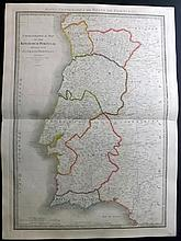 Wyld, James & Faden, William 1846 Large Map of the Kingdom of Portugal