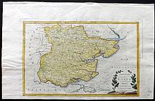 Zatta, Antonio 1792 Hand Coloured Map of Essex, UK