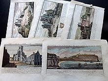 Buck, Samuel & Nathaniel C1820 Group of 5 Hand Coloured Views from Buck's Antiquities