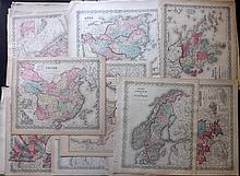 Colton, Joseph Hutchins & Johnson, Alvin Jewett C1856-C1875 Mixed Lot of 37 Country & Continent Maps