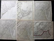 SDUK (Pub) 1833 Group of 6 Maps of North America. USA - Canada. Including North & South Carolina