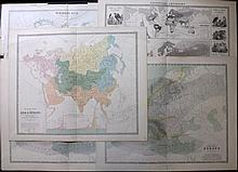 Maps 18th-19th Century. Mixed Lot of 22 Large Maps