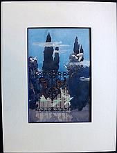 Thom, Barbara, Watercolour, 1925 'The Forsaken Garden'.