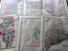 Colton, Joseph Hutchins C1856-70 Lot of 14 US State Maps