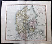Denmark 1808-46 Group of 3 Large Maps by John Cary, Thompson, and Johnston.