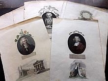 Thornton, Dr Robert John 1810 Lot of 22 Portraits of Famous Botanist's & Zoologists