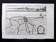 Bellin, Jacques C1750 Map of Batavia, Dutch East Indies, Indonesia