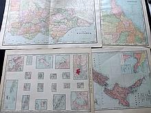 Australia, New Zealand & Pacific C1890-1915 Lot of 12 Maps by Rand & McNally