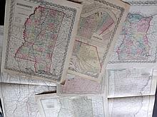 Arkansas, Louisiana, Mississippi C1860-1915 Lot of 8 Maps by Colton/Johnson, Century Atlas, and Rand & McNally