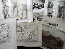 Russia - Siberia 18th Century. Lot of 60 Copper Engraved Views & Costume. Cook Voyages etc