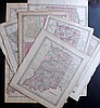 Indiana, Chicago Illinois, Ohio C1857-70's Group of 11 Maps by Colton and Johnson