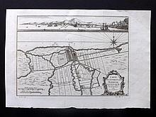Bellin, Jacques C1750 Map of Batavia, Dutch East Indies, Indonesia