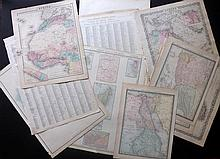 Africa C1857-1915 Lot of 15 Maps. Egypt, Liberia, Guinea, Algeria, Tunisia, South Africa, Continent & Islands