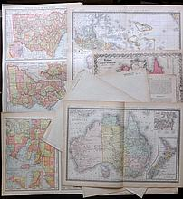 Australia C1860-1914 Lot of 8 Maps by Colton and Rand & Mcnally