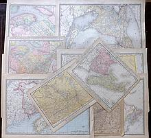 Canada C1910-20 Lot of 10 Maps Published Rand & McNally