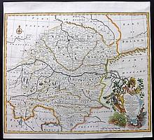 Bowen, Emanuel 1743 Hand Coloured Map of South East Germany