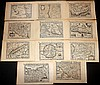 Bertius, Petrus C1600 Collection of 11 Maps