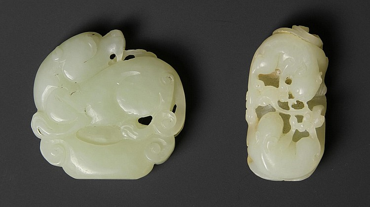 Two Chinese Carved Jade Ornaments