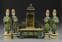 Chinese Green Glazed Burial Set