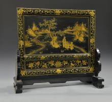 Chinese Lacquer Table Screen