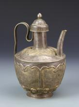 Chinese Silver Wine Pot