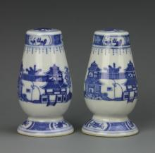 Pair of Chinese Export Salt and Pepper Shakers