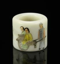 Chinese Famille Rose Porcelain Thumb Ring