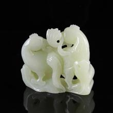 Chinese Jade Bird Figures