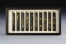 Set of Ten Japanese Kozuka