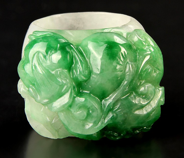 Chinese Jadeite Thumb Ring