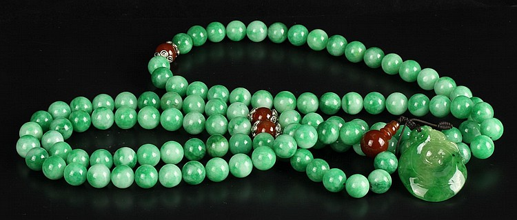 Chinese Jadeite Necklace