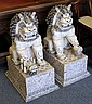 Pair of Chinese Bone Foo Lions