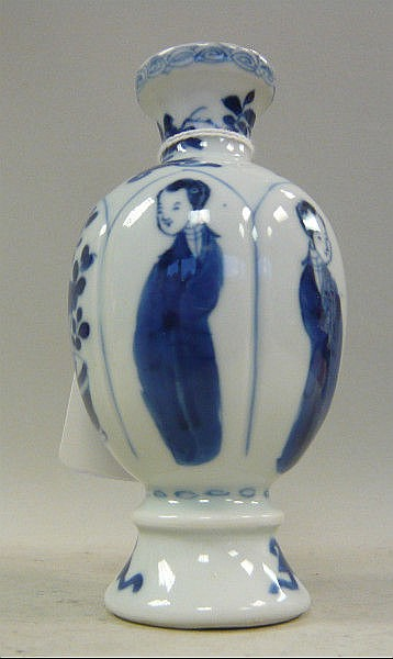 A Chinese Kangxi porcelain miniature vase of