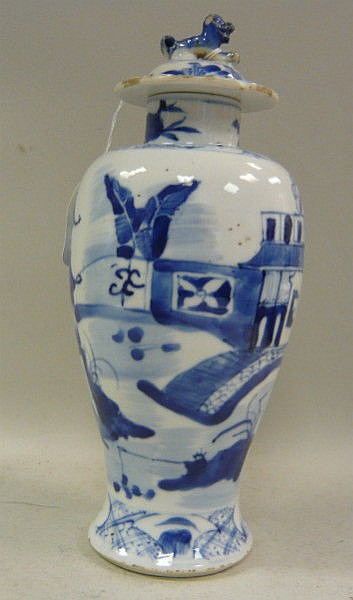 A late 19thC Chinese Export porcelain covered vase