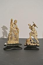 A very fine chinese carved ivory sculptures