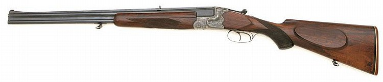 German scalloped action over under double rifle by JP Sauer & son